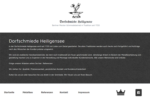 Dorfschmiede Homepage