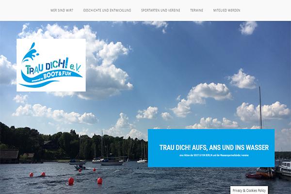 Trau Dich Homepage